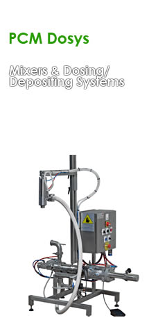 PCM Dosys Mixers and Dosing/Depositing Systems